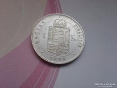 1879 Ezüst 1 Forint-Ferenc József KB keresett szép db!