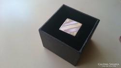 Ezüst gyűrű gyöngyházberakással 925