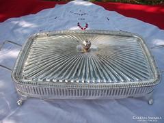 Asztali  fedeles fém tartó