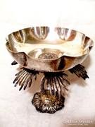 Szecessziós ezüstözött  asztali kínáló