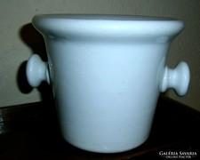 Antik porcelán mozsár- vastag-súlyos