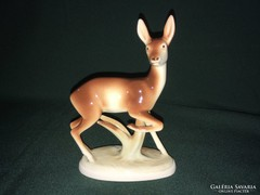 Royal Dux porcelán őz figura
