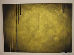 Új! Kézzel festett gyönyörű absztrakt festmény arany alapon
