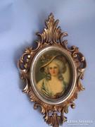 Csodaszép miniatűr fali portré bieder
