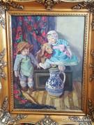 Boemm Ritta / Babák kiskutyával