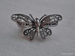 Csodás antik  ezüst pillangó bross