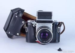 0L283 Pentacon Six analóg fényképezőgép tokjában
