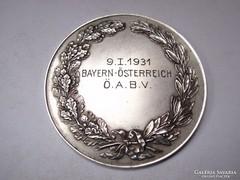 Osztrák Biliárd Szövetség emlékérme 1931