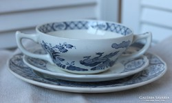 Old Chelsea Furnivals Limited angol krémleveses tányér szett