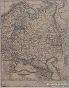 0L360 Antik acélmetszet térkép OROSZ BIRODALOM