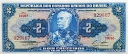 Brazília 2 cruzerios 1954 UNC