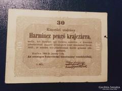 30 Pengő Krajczárra 1849  Bomba jó áron!