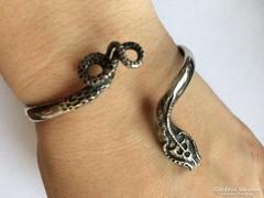 Csodálatos antik ezüst kígyó karék,karperec