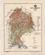 Hont vármegye térkép 1894,  eredeti, Pallas nyomat