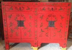 Keleti, kínai kézzel festett pillangós komód. japán.