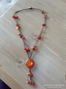 Kézműves karneolköves nyaklánc