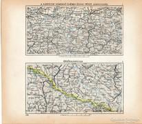 Mini térképek 1929, Kárpátok észak, Erdős - Kárpátok térkép