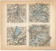 Mini térképek 1929, Bern, Genf, Grindelwald térkép
