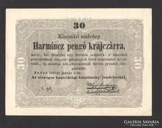 Harmincz pengő krajczárra 1849. GYÖNYÖRŰ!!!