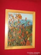 Tűzzománc kép, Tájkép, színes fák