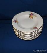 Mz porcelán virágmintás mély tányérok 11 db