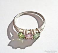 3 színes köves ezüst gyűrű