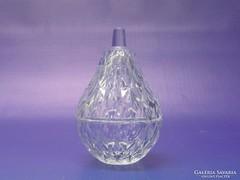0L184 Körte alakú üveg ékszertartó 10.5 cm