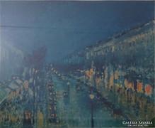 0L228 Camille Pissarro Boulevard Montmartre éjjel