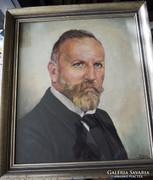 Carl Stolz 1894-1978 német festő  önarckép 42x49