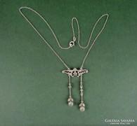 Antik szecessziós ezüst colier