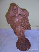 Jelzett art deco terrakotta szobor