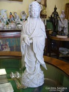 Herendi porcelán Kuan Yin, nő tekerccsel