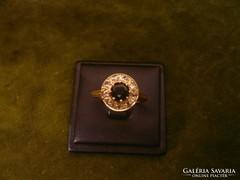 Gyémántos - zafíros antik gyűrű