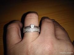 2 az 1-ben cirkon köves gyűrű