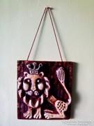 Kerámia fali kép falidísz oroszlán
