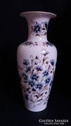 Zsolnay búzavirág dekoros váza, 35cm, makulátlan állapot!