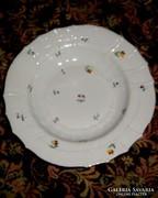 Ó Herendi (címeres) virág mintás  porcelán tányér 24 cm