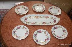 Zsolnay 6 személyes pillangós süteményes garnitúra