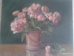 Gyönyörű Virág Csendélet Olajfestmény