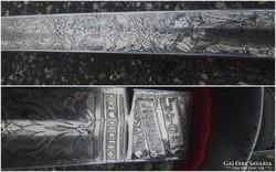 Ferenc József kard cizellált pengével