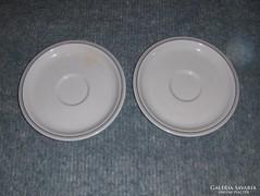 Zsolnay porcelán csésze alátét párban 14 cm (s)