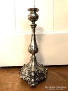Bécsi barokk ezüstözött gyertyatartó
