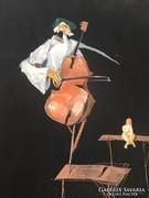 Szacsvay Varga Ferenc : Csellós - szürrealista festmény