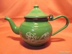Zöld zománcos teás kanna