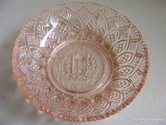Isten áldd meg a magyart - régi címeres üveg tálka