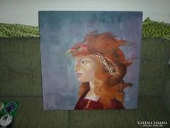 Festmény női arc