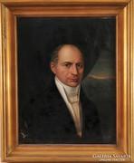 Ismeretlen művész: Férfi portré, 19. század
