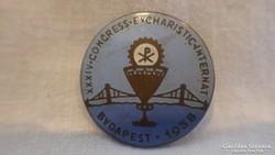 XXXIV Congress Evcharistic Internat 1938 zománc jelvény