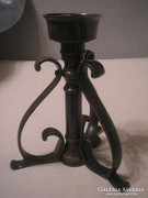 N2  Bronz antik súlyos gyertyatartó ritkaság 20 cm