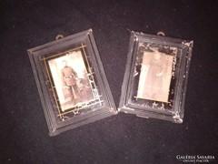 Antik keretes fotográfiák  az 1800-as évek 2. feléből 2 fotó